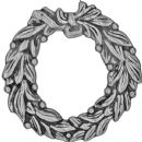 "TH93634 Tim Holtz® Idea-ology™ Metal Adornments 1.375"" 4/Pkg Antique Nickel Wreaths"